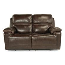 Fenwick Power Reclining Loveseat with Power Headrests - 204-70 Leather Vinyl