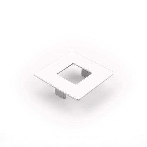 Finestrino, Pull, Square, Matte Chrome, 64 mm cc