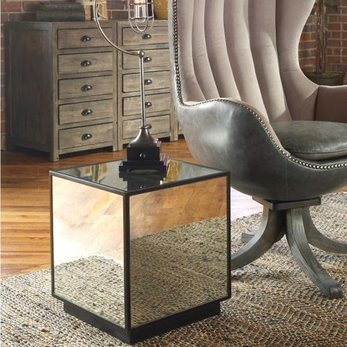 Product Image - Matty Mirrored Cube Table