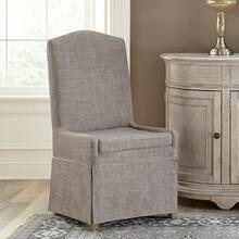 Elizabeth - Upholstered Hostess Chair - Antique Oak Finish