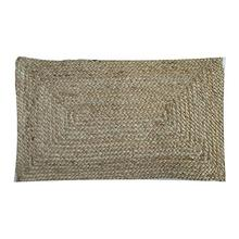 "Rowan Braided Natural Fiber Lumbar Pillow (21"" X 13"")"