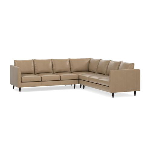 Bassett Furniture - Ariana Leather L-Shaped Sectional