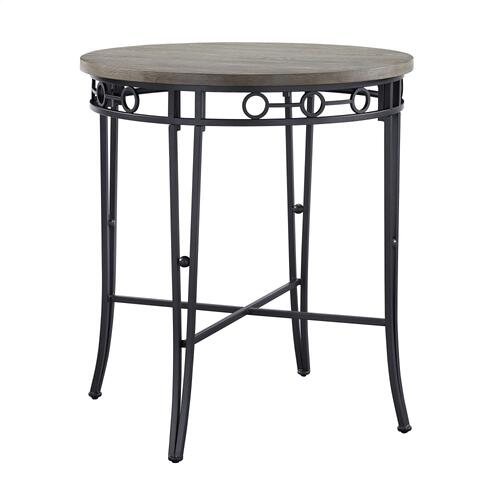 Round Top Pub Table, Natural and Black