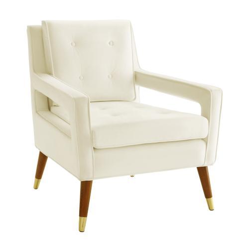 Tov Furniture - Draper Cream Velvet Chair