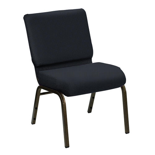 Wellington Everton Blue Upholstered Church Chair - Gold Vein Frame