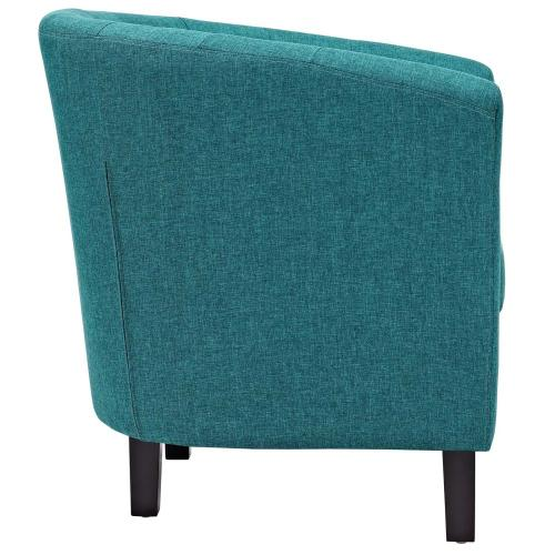 Prospect 2 Piece Upholstered Fabric Loveseat and Armchair Set in Teal
