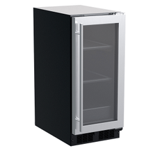 See Details - 15-In Built-In Refrigerator with Door Style - Stainless Steel Frame Glass