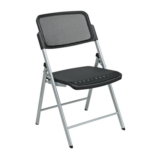 Deluxe Folding Chair With Black Progrid® Seat and Back