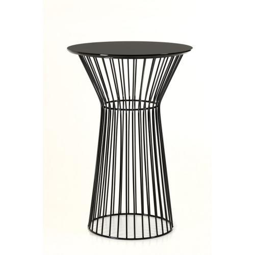 Modrest Graph Modern Black Round Bar Table