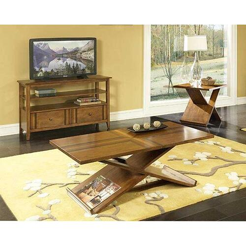 Birch w/ Walnut Inlay Coffee & End Table Set