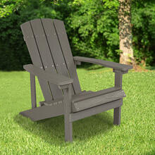 See Details - Charlestown All-Weather Poly Resin Wood Adirondack Chair in Gray