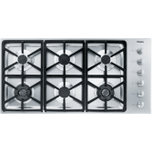 MieleMiele KM 3484 G - Gas cooktop with 2 dual wok burners for particularly versatile cooking convenience.