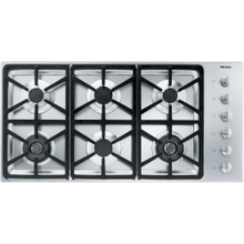 KM 3484 G - Gas cooktop with 2 dual wok burners for particularly versatile cooking convenience.
