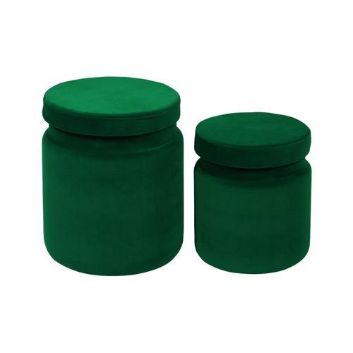 Tov Furniture - Kris Green Storage Ottomans - Set of 2