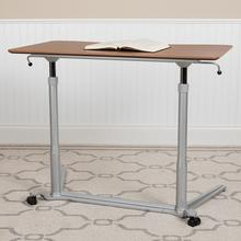 """See Details - Sit-Down, Stand-Up Cherry Computer Ergonomic Desk with 37.375""""W Top (Adjustable Range 29"""" - 40.75"""")"""