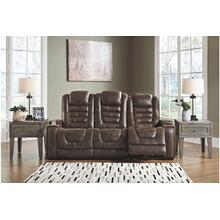 Game Zone Pwr Rec Sofa With Adj Headrest Bark