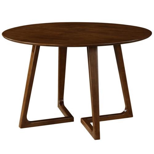Paddington KD Round Dining Table, Dark Walnut