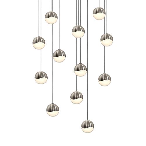 Grapes® 12-Light Round Small LED Pendant