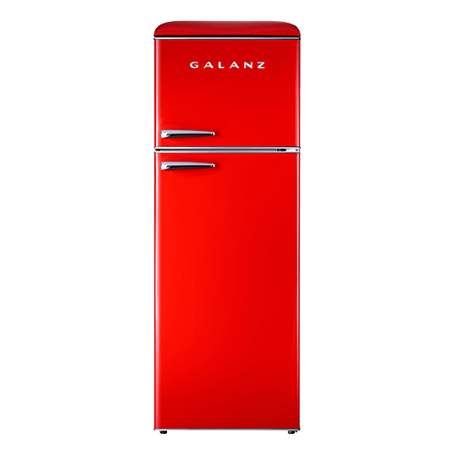 Galanz 12 Cu Ft Retro Top Mount Refrigerator in Hot Rod Red