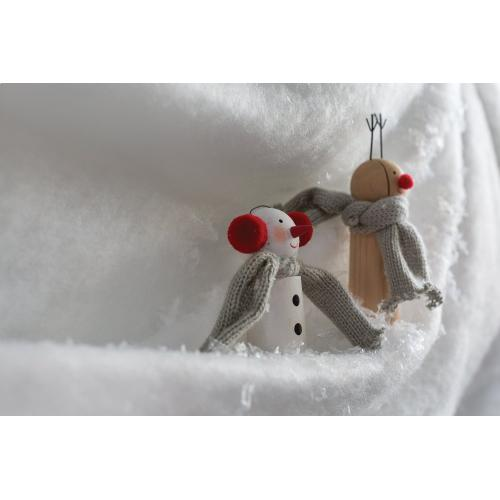 "2"" x 4.75"" White Bundled Friends (Snowman Option)"