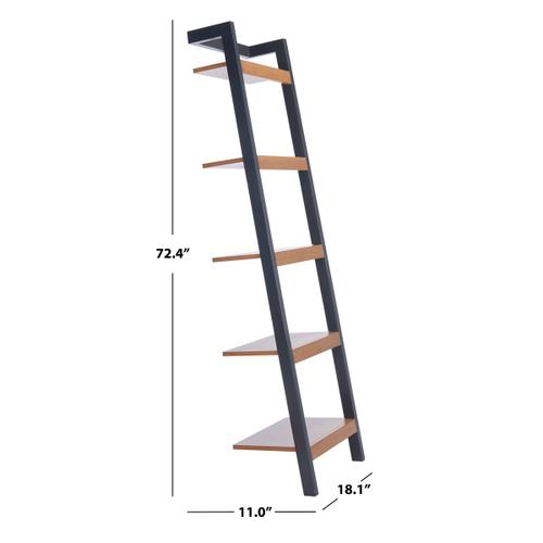 Yassi 5 Tier Leaning Etagere - Natural / Charcoal
