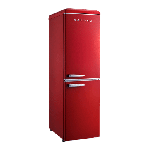 Galanz 7.4 Cu Ft Retro Bottom Mount Refrigerator in Hot Rod Red