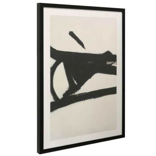 Style Craft - ABSTRACT INK II  38in X 26in  Made in the USA  Textured Framed Print