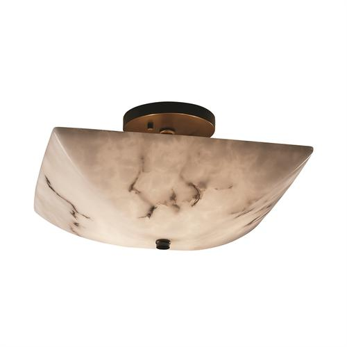 "14"" Square Semi-Flush Bowl"