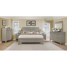 York 204 Solid Wood Construction Bedroom Set with Queen & King size Bed, Dresser, Mirror, Chest and 2 Night Stands, King