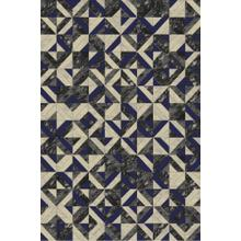 "Durable Flat Weave No Shedding Lifestyle 701 Area Rug by Rug Factory Plus - 7'6"" x 10'3"" / Navy"
