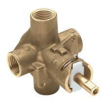 "M-Pact Posi-Temp ® 1/2"" IPS connection includes pressure balancing"