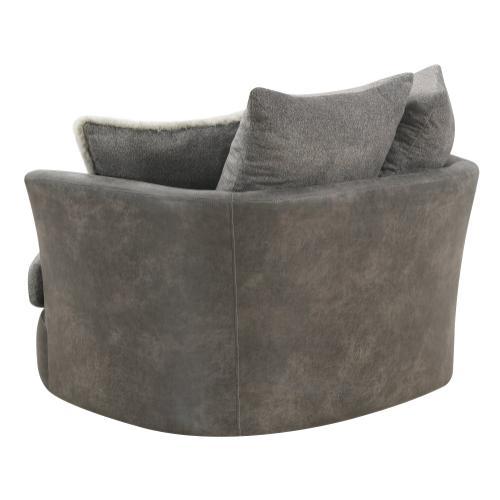 Emerald Home Berlin U4551-04-03 Swivel Chair W/ 3 Back Pillows