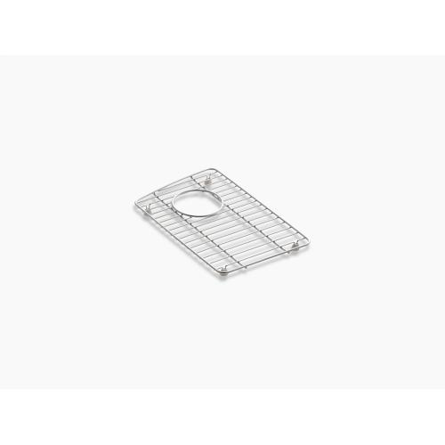"""Stainless Steel 9-1/8"""" X 14-3/8"""" Stainless Steel Sink Rack, for Left Bowl"""