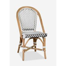 Outdoor Camelot Bistro Chair with Synthetic Wicker - White Brown- MOQ 2(17X24X35) (package: 2pcs/box