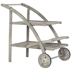 Lodi Tea Cart - Grey Wash / Beige