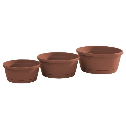 Libis Plant Bowl w/ attached saucer, Small