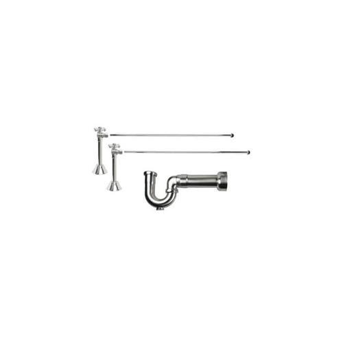 Product Image - Lavatory Supply Kit w/ Massachusetts P-Trap - Angle Sweat - Mini Cross Handle - Weathered Copper