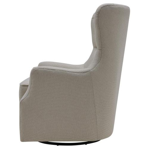 Anthony Fabric Swivel Rocker Tufted Accent Arm Chair, Cardiff Cream