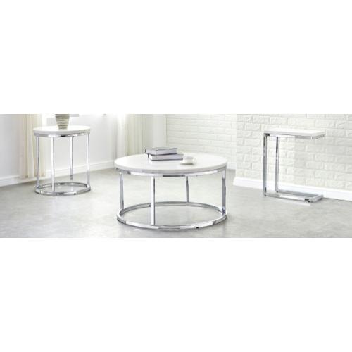 Echo 3-Piece Marble Top Set (Cocktail & 2 End Tables)