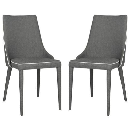 Summerset 19''h Linen Side Chair - Grey / White