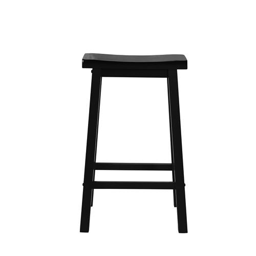 Saddle Seat Barstool, Antique Black With Sand Through Terra Cotta