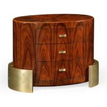 Small oval shaped chest of drawers