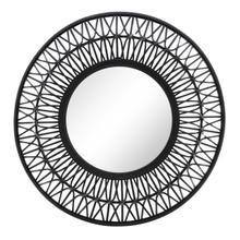 "Bamboo 36""d Wall Mirror, Black"