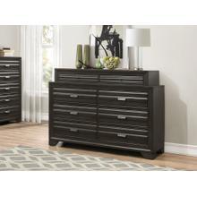 Loiret Antique Grey Finish Wood 8 Drawers Dresser
