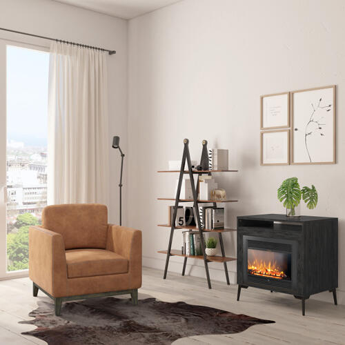 Accentrics Home - A-Frame Multi-toned Bookcase in Walnut