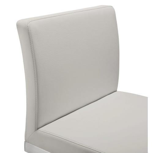 Tov Furniture - Parma Light Grey Steel Counter Stool (Set of 2)