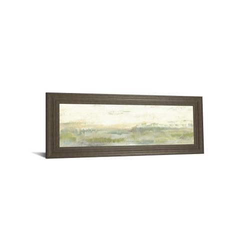 "Classy Art - ""Greenery Horizon Line I"" By Jennifer Goldberger Framed Print Wall Art"