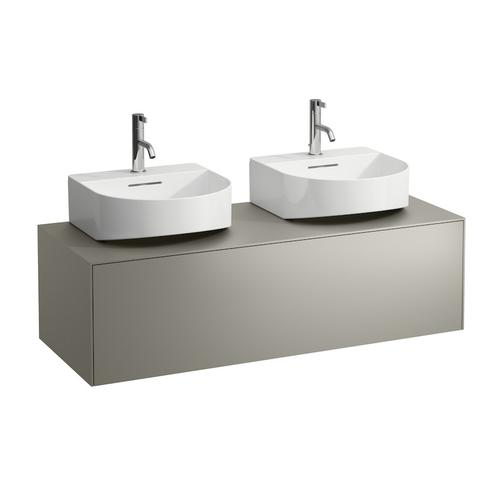 White Matte Drawer element, 1 drawer, matching small washbasin 816341, cut-out left and right