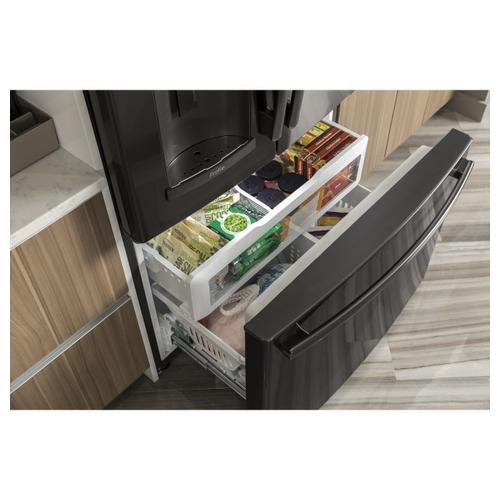 GE Profile - GE Profile™ Series ENERGY STAR® 22.2 Cu. Ft. Counter-Depth French-Door Refrigerator with Hands-Free AutoFill