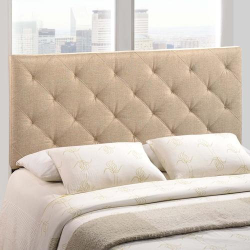 Modway - Theodore Full Upholstered Fabric Headboard in Beige